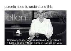 Go on the Ellen Show. Even meet Ellen?anything Ellen! Love her! Ellen Degeneres Quotes, Anti Bullying, Bullying Quotes, It Gets Better, Feel Better, Make Me Smile, Feminism, I Laughed, Love Her