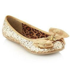 Girl's gold glitter bow pumps - Casual shoes - Shoes & boots - Kids -