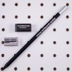 Magnetic Pencil, Eraser and Sharpener Bundle from Write On It Today. High quality magnetic pencil, staedtler rasoplast eraser & KUM 420 single hole sharpener.
