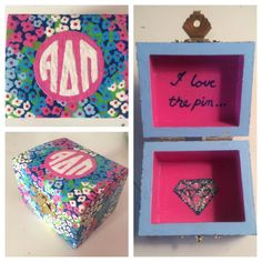 sorority pin box