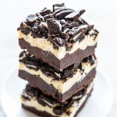 If you're looking for an over-the-top decadent brownie recipe, look no further. Ultra fudgy, rich brownies are topped with a layer of cream cheese that's spiked with white chocolate chips before sprinkling on Oreos and chocolate chips. The recipe came to me as I was trying to thin out my half-opened packages of baking chips …