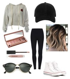 """""""Out touring"""" by natalie1027 on Polyvore featuring Sans Souci, Converse, Ray-Ban, Urban Decay, Burberry and rag & bone"""