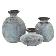 Set Of 3 - Bubble Gum Grey Vases