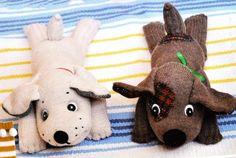 Новорічні іграшки своїми руками 2018. Саморобні іграшки до Нового року Жовтої Земляної Собаки. Фото