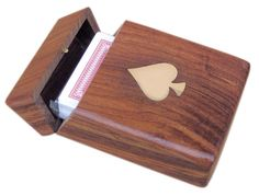 Card Game - Wooden Box | Nautical Gifts | Mare2 Shop | Card Game - Wooden Box - Games Boxes Engrave Promotional Gift