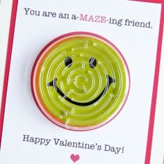 Make a-MAZE-ing valentines for your child's class. Free Printable included.
