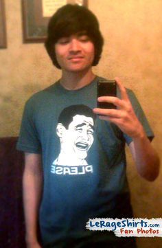 California kid Ronnie shows his adoration for Yao Ming by Wearing our Bitch Please Meme T-shirt.