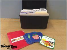 A Teeny Tiny Teacher: Calendar Organization