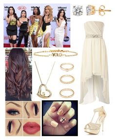 """At the Billboard Music Awards with Fifth Harmony"" by cmarnoldrr ❤ liked on Polyvore featuring Roberto Coin, AX Paris, Ettika and Forever 21"