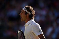 Roger Federer shows some emotion on Centre Court