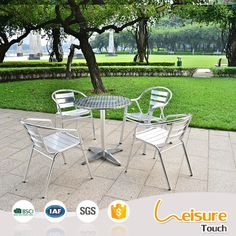 Foshan metal outdoor furniture aluminum table and chairs bar furniture