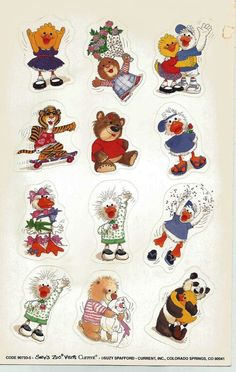 Stickers Vintage 1 sheet Current SUZY'S ZOO VISIT       A1-23 #Current #Stickers