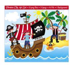 Pirate Clip Art Pirate Clipart Pirates by JoKavanaghDesigns