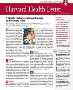 Harvard Health Letter: July 2013 Med. Diet Suggestions