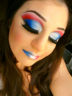 4th of July Makeup Look