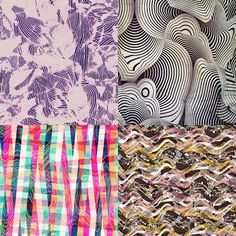 Contoured inspired Patternbank Studio Designs by Alexandra Khrobostova, Roberto Guidolin, Camila Coelho, Victoria Krupp