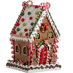 women's day gingerbread houses | clay gingerbread house item rz219 this cute gingerbread house features ...