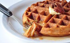 Butter Pecan Waffles via The Creek Side Cook