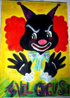 Cuadro Evil Circus Acrílico sobre lienzo por PostDollsARTuNIVERSE, €15.45