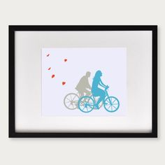 A Ride with You  Personalized Art Print  Couples by lepapierstudio, $20.00 Can be Customized with names and colors
