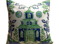 Asian Toile Linen Pillow Cover, Chinoiserie Teahouse Kelly Green Pillow, Green Blue Teahouse Pagoda Accent Pillow Cover, Green Linen Pillow – Gardening for beginners and gardening ideas tips kids Linen Pillows, Ivory Pillow, Blue Green Pillow, Chinoiserie Pillows, Throw Pillows, Designer Pillow, Green Pillow Covers, Accent Pillow Cover, Green Pillows
