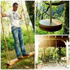 For Father's Day~beautiful handmade cedar tree and porch swings | @Myka Hale @ Rosedale Swing Company |