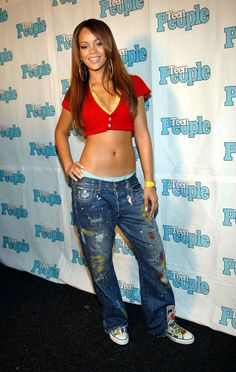 In the days of pon de replay rihanna kicked it in belly shirts