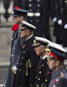Prince Edward, Prince William, Prince Philip, Prince Charles and Prince Andrew, Remembrance Day, 2014