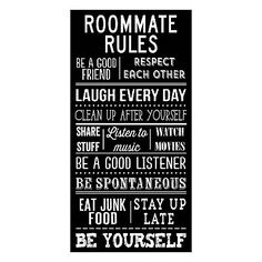''Roommate Rules'' Canvas Wall Art by Louise Carey From kohl's.