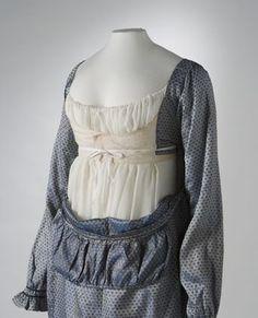 Australian Dress Register - Silver and blue shot silk dress, with large inside photographs