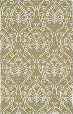 Surya Modern Classics CAN1958 Green/Neutral Designer Area Rug