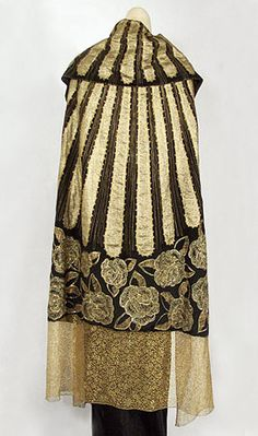 Deco gold lame evening wrap, c.1925, from the Vintage Textile archives.