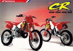 https://flic.kr/p/py7tj9 | 1994 Honda CR125 and CR250R Brochure