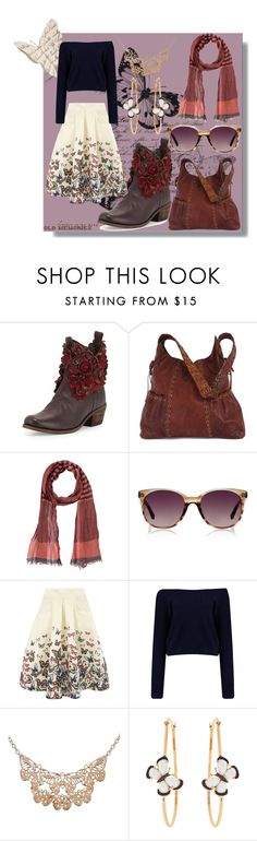 """""""Butterflies"""" by letiperez01 ❤ liked on Polyvore featuring Sheridan Mia, Kooba, SCERVINO STREET, Linda Farrow Luxe, Jolie Moi, Ruby Rocks and Christina Debs"""
