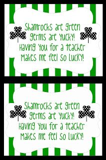 This-n-that; a little crafting: St. Pattys Day Teacher Appreciation