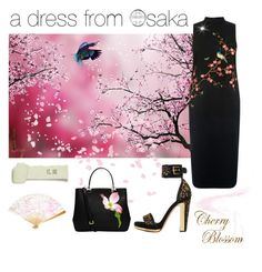 """""""a dress from Osaka"""" by coastalcatches ❤ liked on Polyvore featuring Alexander McQueen and MICHAEL Michael Kors"""