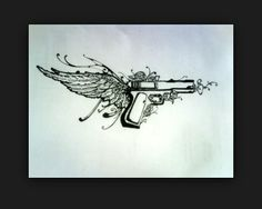 Yesssss I want this pistol tattoo