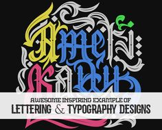 26 Awe-Inspiring Examples Of Lettering and Typography Designs #typography #typographyinspired #typedesign #designinspiration #graphicdesign #handlettering #lettering #handmadefont