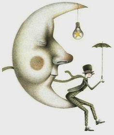 Pinzellades al món: The lovely moon: illustration by Iban Barrenetxea