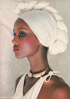 Vintage Editorials: The Somali Girl and Max...Scanned from Beauty in VOGUE 1976…