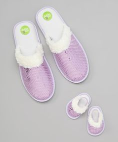 Lilac Sequin Slippers & Doll Shoes #zulily #zulilyfinds