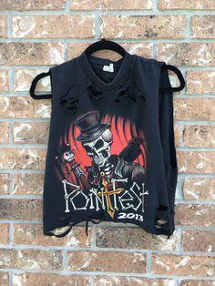 0525985d7c19 POINTFEST    t shirt   grunge   cut off    band shirt    concert shirt     rock    cropped tee  distressed rock shirt   bleached