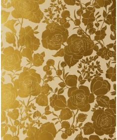 Karla Pruitt for Hygge & West Garden in Cream and Gold Wallpaper