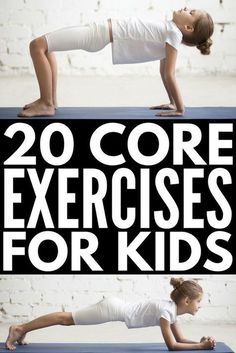 20 Super Fun Core Exercises for Kids Exercises for Kids Kids Yoga Kids Health Gross Motor Activities, Gross Motor Skills, Classroom Activities, Physical Activities For Kids, Movement Activities, Yoga For Kids, Exercise For Kids, Kid Exercise Games, Kids Workout