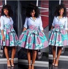 Wisher Skirt The African Shop African Print Skirt African Dresses For Women, African Attire, African Wear, African Women, African Style, African Inspired Fashion, African Print Fashion, Fashion Prints, Fashion Design