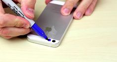 He puts scotch tape on his phone and paints it blue. What he sees next is disgusting.--DIY black light!