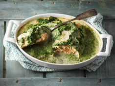 Uunilohi pinaattikermakastikkeessa Microwave Dinners, Tasty, Yummy Food, Everything Is Awesome, Saturated Fat, Fish And Seafood, Palak Paneer, Eating Well, Guacamole