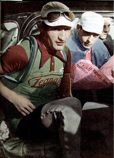 Hand colorized Coppi and Bartali!