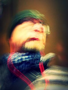 Slow Shutter Selfie - I turned the camera on myself while riding the subway to work one morning.  Shutter set at 2 seconds and final enhanced with another app - maybe Tadaa.