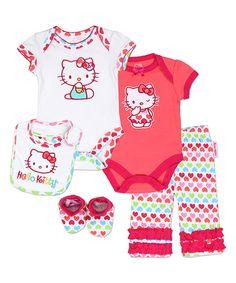 Hello Kitty Langarmshirt  Charmmy Kitty Melody  in weiß für Babys